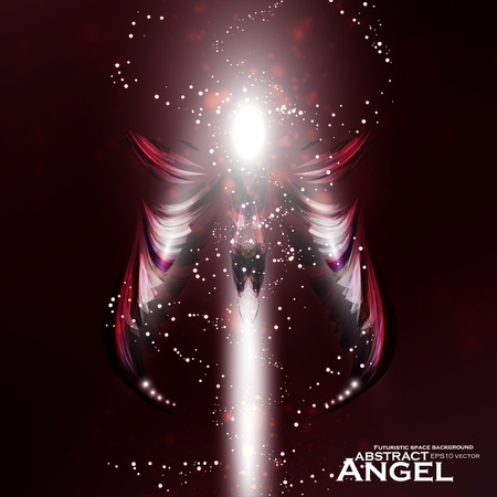Angel vector futuristic background, wing illustration eps10 Stock Vector - 12356328