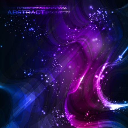 Abstract vector background, shiny space, futuristic wave illustration eps10 Stock Vector - 12356294
