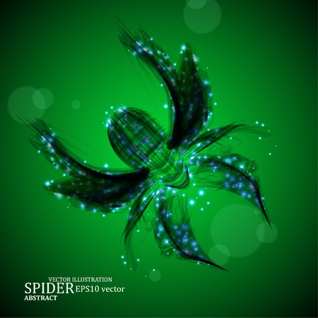 Abstract spider, futuristic colorful strip, stylish vector illustration eps10 Vector