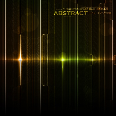 Technology template. Neon abstract, reflection lines vector backgrounds eps10 Stock Vector - 12356298