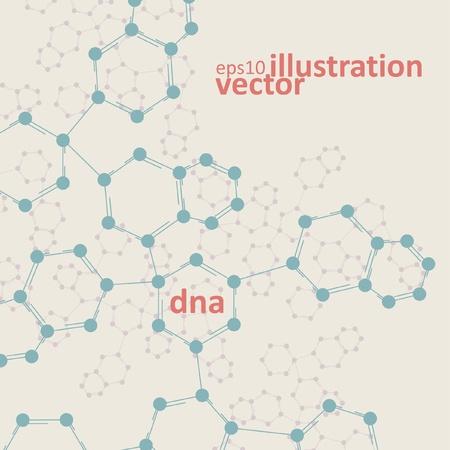 Retro dna, vintage molecule, cell illustration eps10 Stock Vector - 12356309