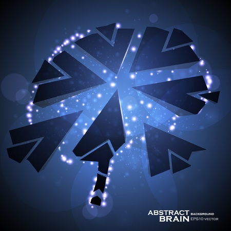 destructive: Brain crushing, abstract light background, vector illustration eps10