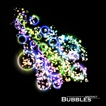 Abstract vector background eps10, colorful lights bubble, dynamic element. Vector