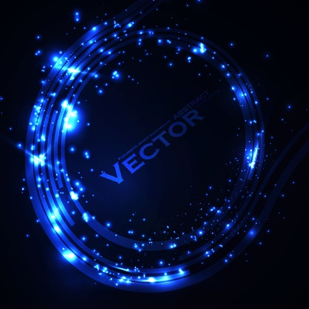 Abstract vector background. Creative dynamic element, shiny space illustration eps10 Vector