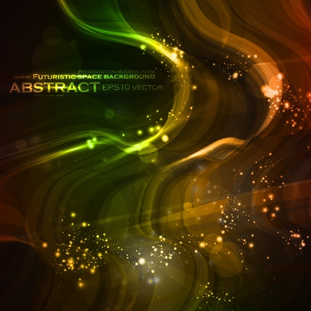 Abstract background, shiny space, futuristic wave illustration  Vector