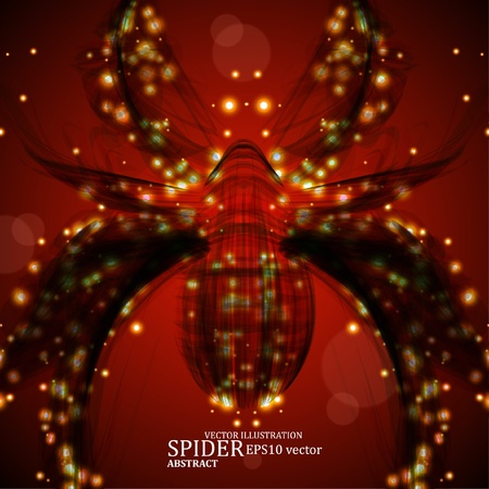 Abstract spider, futuristic colorful strip,  Vector