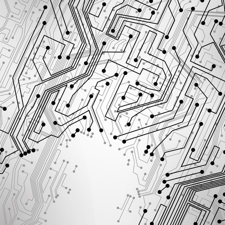 data processor: circuit board background, technology illustration