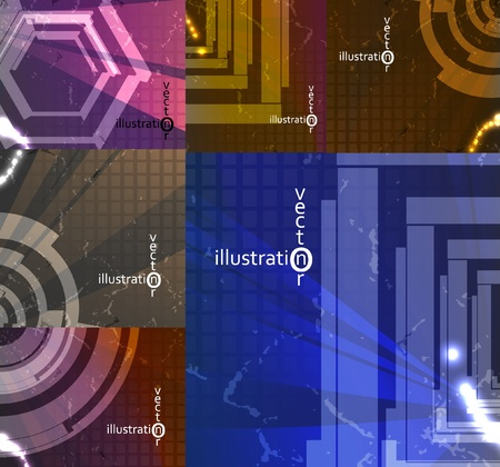 set for abstract background, technology futuristic illustration  Vector