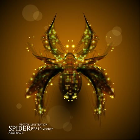 Abstract spider, futuristic colorful strip, stylish illustration  Vector