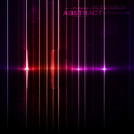Technology template. Neon abstract, reflection lines backgrounds Vector