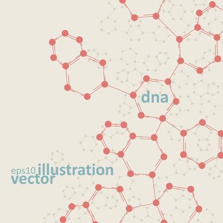 Retro dna, vintage molecule, cell illustration Stock Vector - 12719458