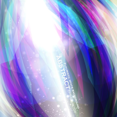 Abstract  background, futuristic colorful strip, stylish illustration  Vector