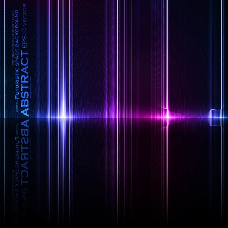 Technology template. Neon abstract, reflection lines vector backgrounds