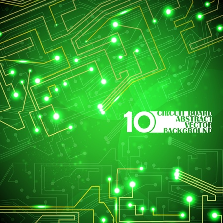 circuit board vector background, technology illustration Vector