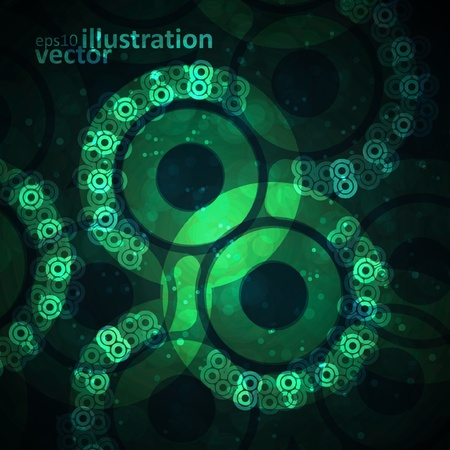 Abstract vector background, creative space illustration Vector