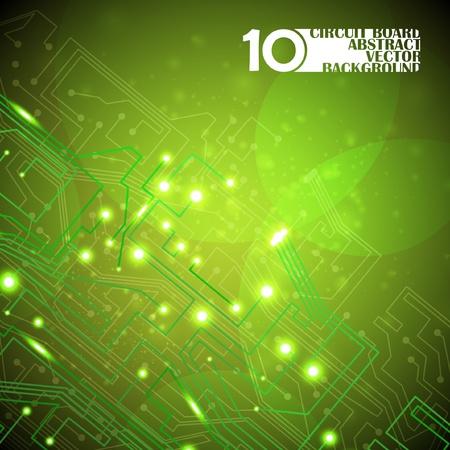 la placa de circuito de fondo vector, la tecnología