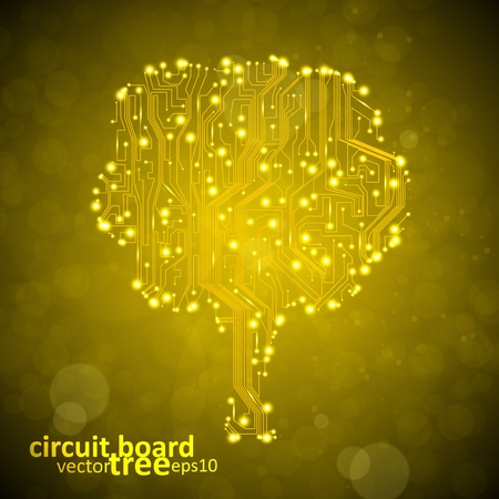 circuit board vector background, technology illustration, form of tree. Stock Vector - 12896344