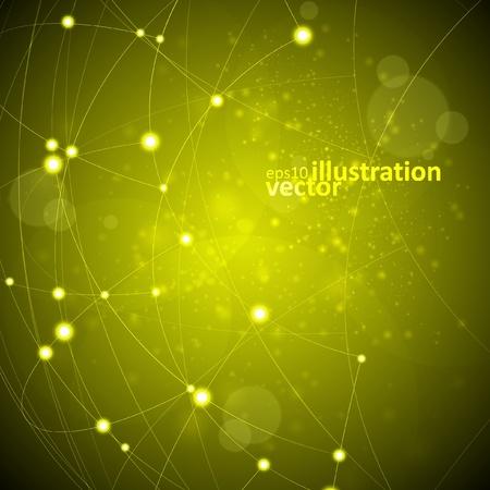 conectividad: Resumen de vectores de fondo, ilustraci�n de tecnolog�a