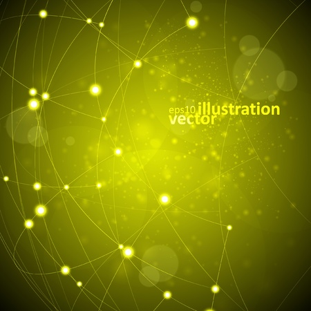 Vecteur de fond abstrait, illustration de technologie Vecteurs