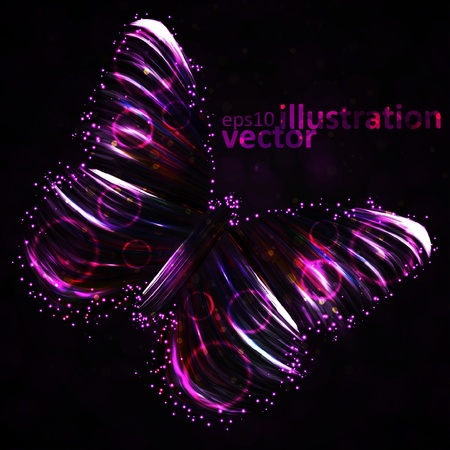 Shiny Butterfly abstract vector, futuristic colorful strip, stylish illustration Stock Vector - 12896499