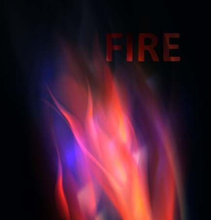 Fire background. Abstract  vector illustration Vector