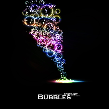 Abstract background of colorful lights bubble, dynamic element.
