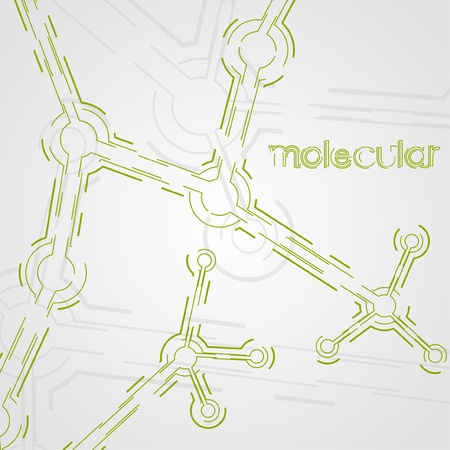 circuit board background, technology illustration, form of dna, molecular  Stock Vector - 13024773