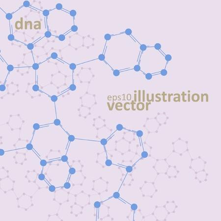 deoxyribose: Retro dna, vintage molecule cell illustration