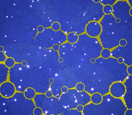 Futuristic dna, abstract molecule, cell illustration Stock Illustration - 13025703