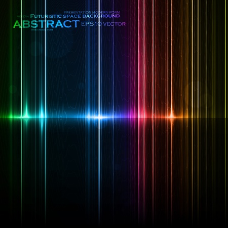 Technology template. Neon abstract, reflection lines vector backgrounds eps10 Stock Vector - 13100780