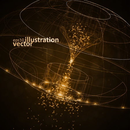 Abstract technology, vector technical drawing, shiny space background eps10 Çizim