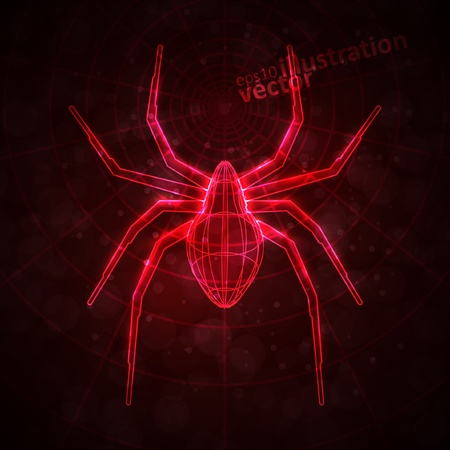 Abstract spider, technology energy vector illustration  eps10 Stock Vector - 13100801