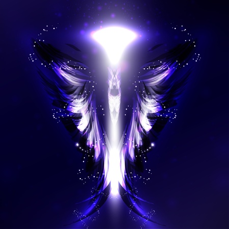 ange gardien: Ange de fond futuriste, illustration aile Banque d'images