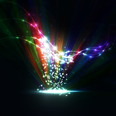 Abstract  Creative dynamic element,  light lines Illustrations Stock Illustration - 13195497
