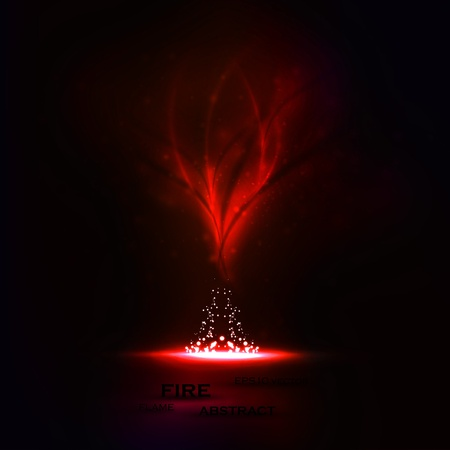 Abstract vector. Creative dynamic, magic fire Illustrations. Vector