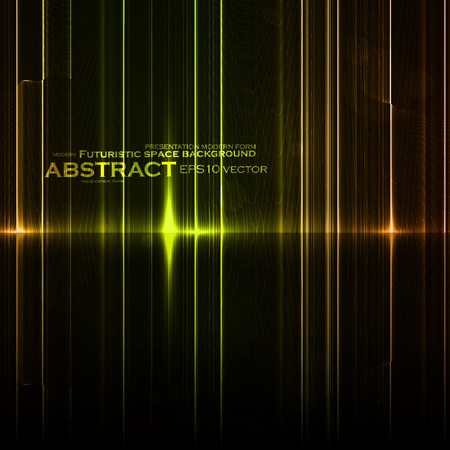 Technology template. Neon abstract, reflection lines vector backgrounds Stock Vector - 13195523
