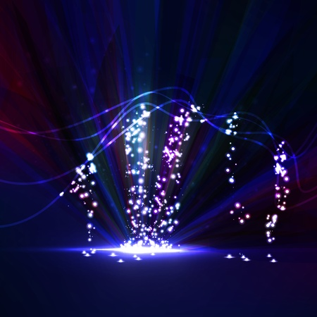 Abstract. Creative dynamic element,  light lines Illustrations. Stock Illustration - 13229143