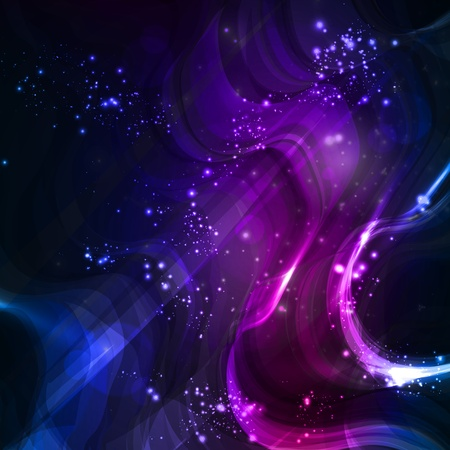 Abstract background, shiny space, futuristic wave illustration Stock Photo