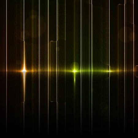 Technology template. Neon abstract, reflection lines backgrounds Stock Photo - 13229159