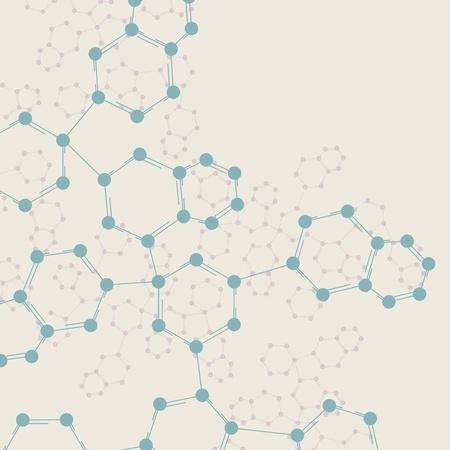 genetica: Dna Retro, molecola d'epoca, illustrazione delle cellule