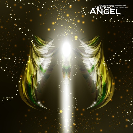 Angel futuristic background Stock Vector - 13319178