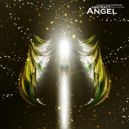 dark angel: Angel futuristic background