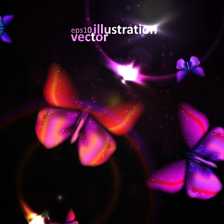 Shiny abstract butterfly Vector