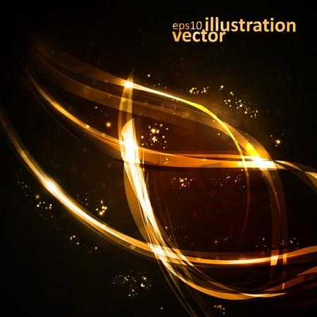 Abstract background, shiny space, futuristic wave illustration  Illustration