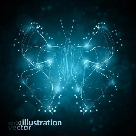 butterfly abstract: Mariposa abstracta brillante
