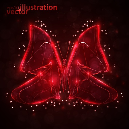 Shiny abstract butterfly Stock Vector - 13319141