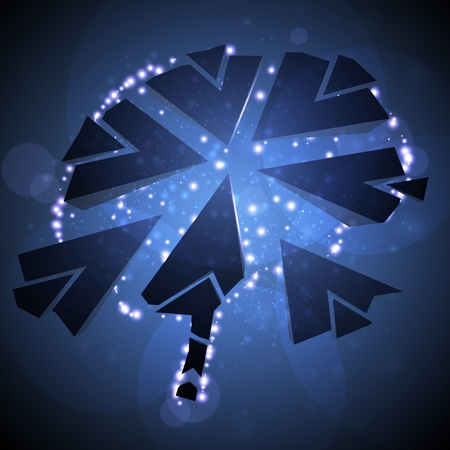 Brain crushing, abstract light background Stock Photo - 13404535