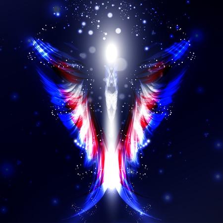 Angel futuristic background, wing illustration Stock Illustration - 13404549