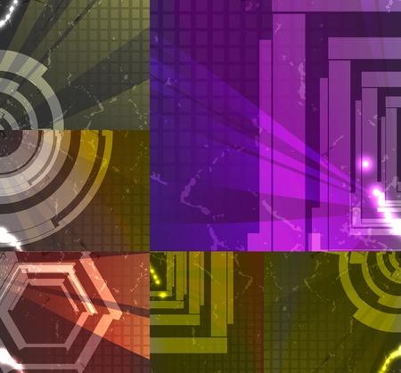 set for abstract background, technology futuristic illustration illustration
