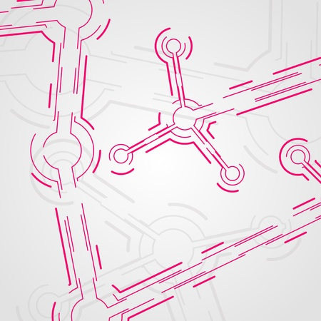 circuit board background, technology illustration, form of dna, molecular Stock Illustration - 13404536